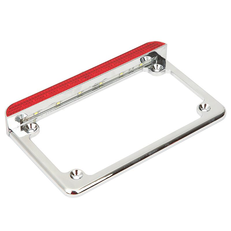 Ironwalls 12V Motorcycle LED License Plate Frame With BrakeMotorbike ...