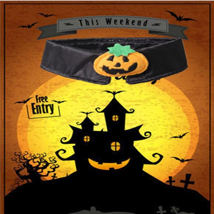 1pc Halloween Mischief Cat Small Dogs Necktie Collar Black Tie Pumpkin Bow-tie For Cat Pet Beauty Supplies #3