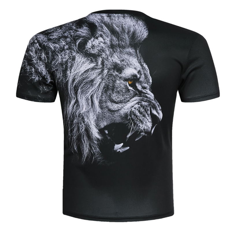 New Fashion Men/Women Domineering Lion T-shirt 3d lion Print Designed Stylish Summer T shirt Brand Tops Tees Plus Size M-4XL