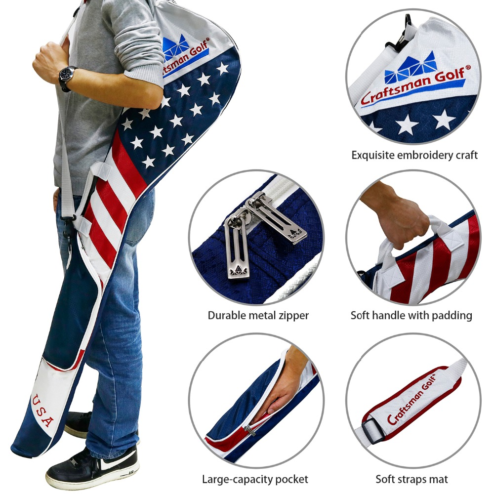 Craftsman Golf Stars And Stripes American Usa Us Flag Club Case Sunday Bag Red White Blue For 8 10 Clubs 49 In Heads From Sports Entertainment On