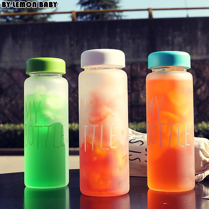 500ml Frosted Portable Seal Bottles Plastic Sports Water Bottle Leak-proof Bike Outdoor Climbing Gift High Quality SBY8011 outdoor sports aluminum water bottle green 500ml