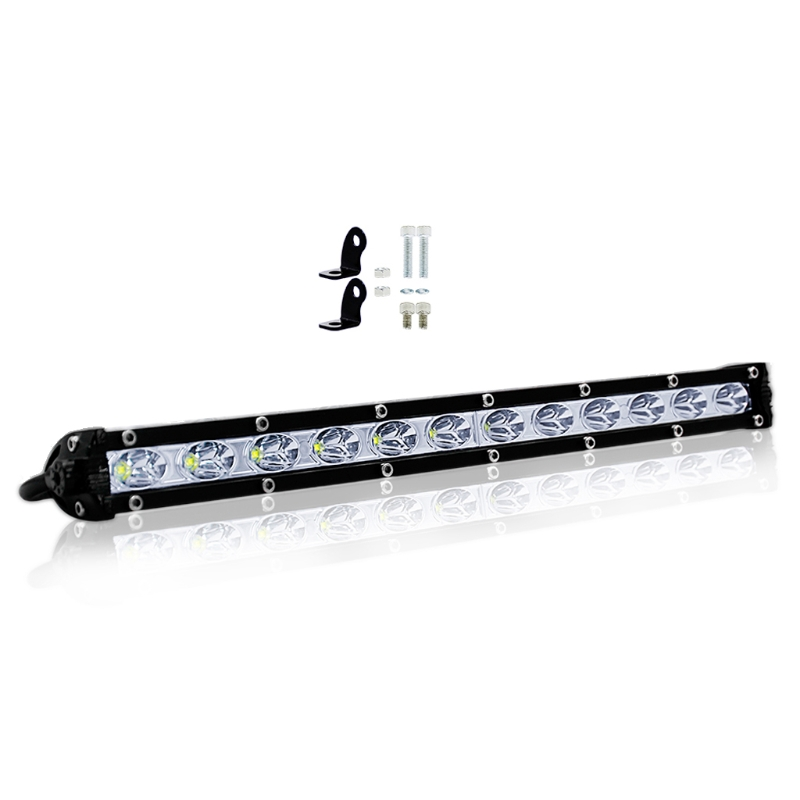 YAM NEW DC 10-30V 12LED Curved Flood Spot Work Light Bar 60W For Offroad Truck Lamp