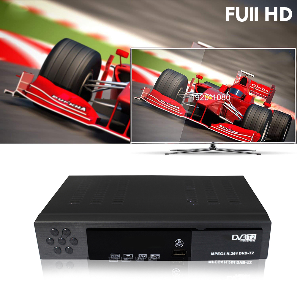 DVB T2 HD Digital Terrestrial Receiver H.264 TV Set Top Box Export Support MPEG-4 MP3 Sell In Europe Africa And Other Countries