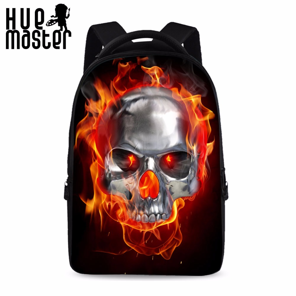 15.6 Inch Laptop Backpack College Students School Bag Skull Printing Back Pack High Capacity Rucksack Female Male Mochila Hombre lowepro protactic 450 aw backpack rain professional slr for two cameras bag shoulder camera bag dslr 15 inch laptop
