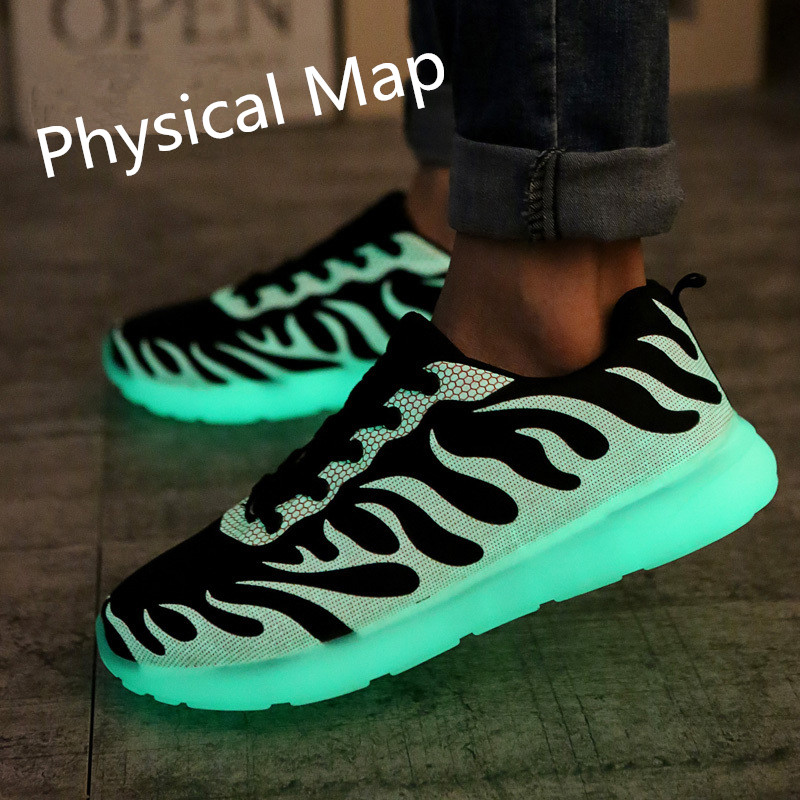 Hot 2016 Selling Emitting Lover Luminous Glowing Casual Shoes Men Shoe Fluorescence Shoes Light Up Glowing