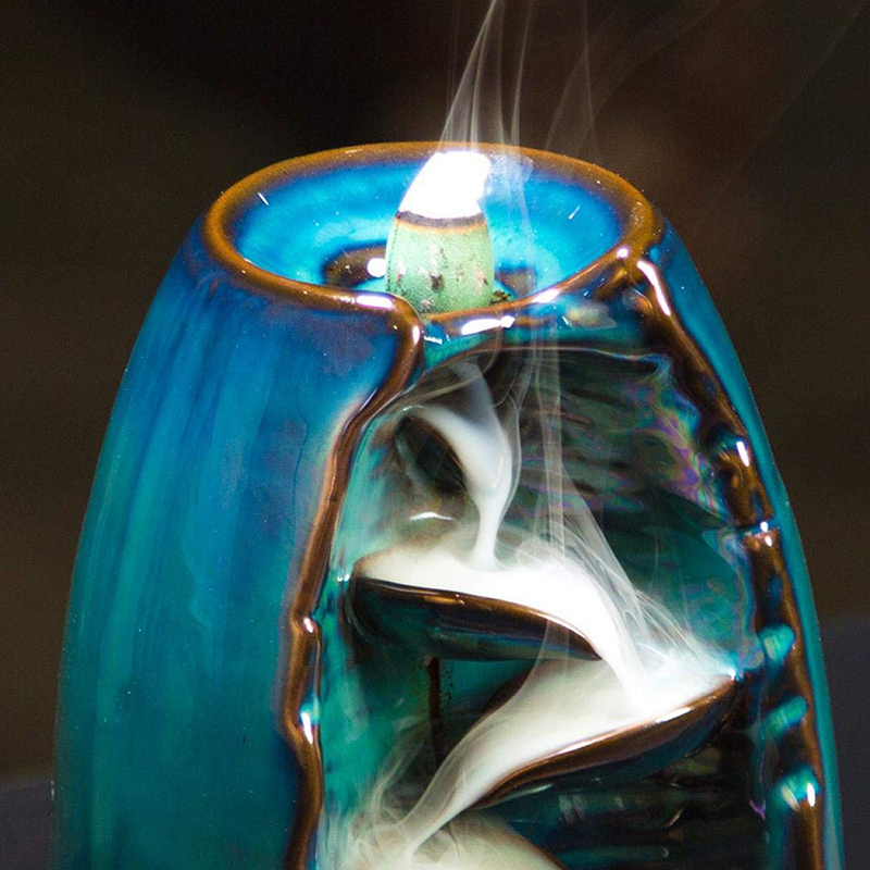 Serenity Spring Backflow Waterfall Incense Burner With 10