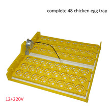 Complete  Automatic 48 chicken Egg tray for mini egg incubator with 12+220V motors on sale incubator egg automatic mini egg incubator 48 eggs chicken incubators for sale