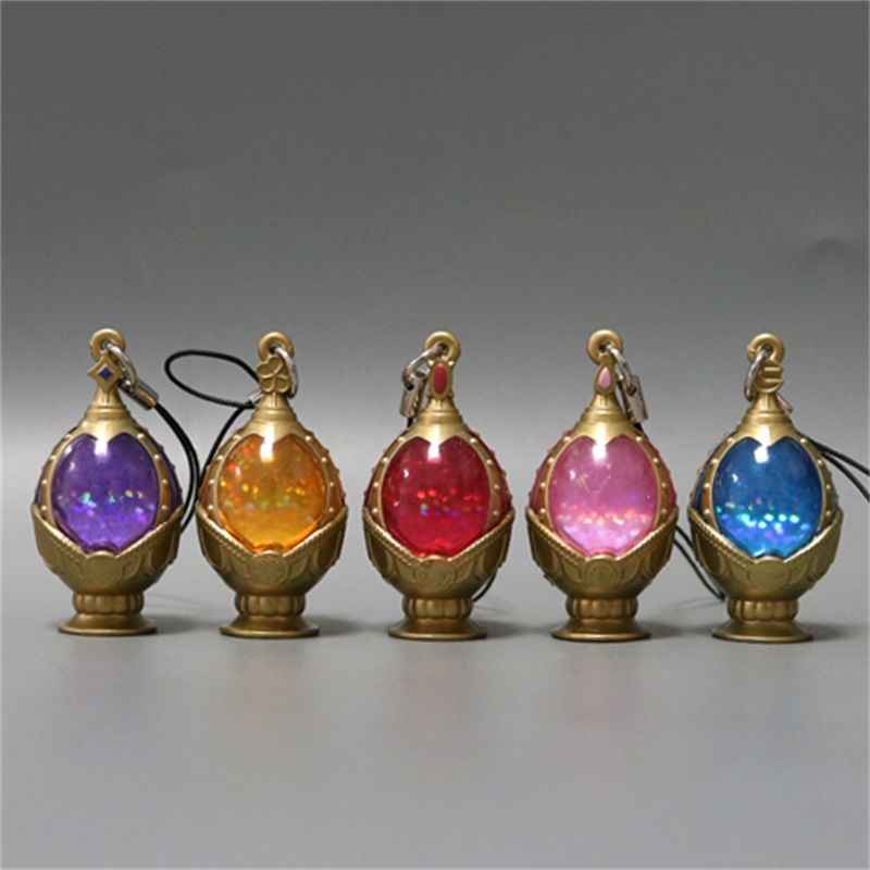 Anime Cosplay Jewelry Set Puella Magi Madoka Magica Akemi Homura Soul Gem Pendant Necklace Metal Collectible Model