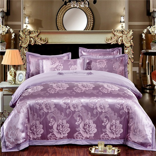 Nature cotton Imitate silk Luxury Bedding set King Queen size Jacquard Stain Bed Set/Bedclothes Duvet Cover Bed/Flat Sheet 28