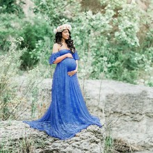 Lace Maxi Gown Maternity Photography Props Pregnancy Dress
