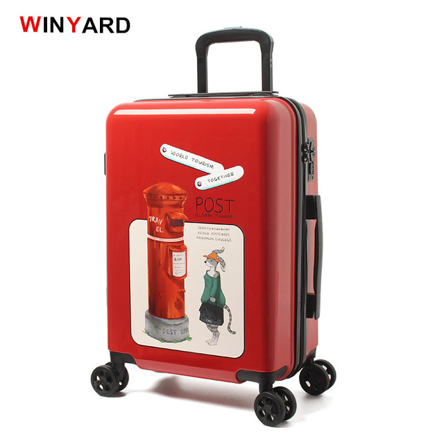 Vintage Uk Post Abs Pc Hardside Case Travel Trolley Luggage S 20