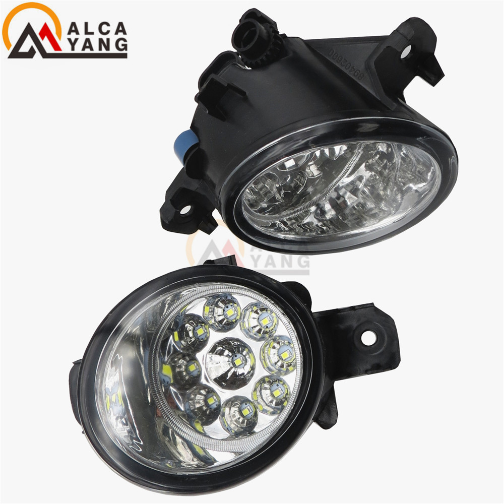Malcayang Devil Eyes Car styling LED / Halogen Fog LIGHT Lights drl Refit 55W For OPEL MOVANO B Platform/Chassis Bus Box 10-15 for opel astra h gtc 2005 15 h11 wiring harness sockets wire connector switch 2 fog lights drl front bumper 5d lens led lamp