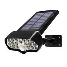Shark Floodlight Solar Powered LED Wall Lamps Waterproof Outdoor Courtyard Light Horizontal 360 up and Down 90 Degree Adjustment