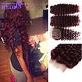 99j Brazilian Hair With Closure 99j Brazilian Deep Wave Brazilian Virgin Hair With Closure 3 Bundles With Closure
