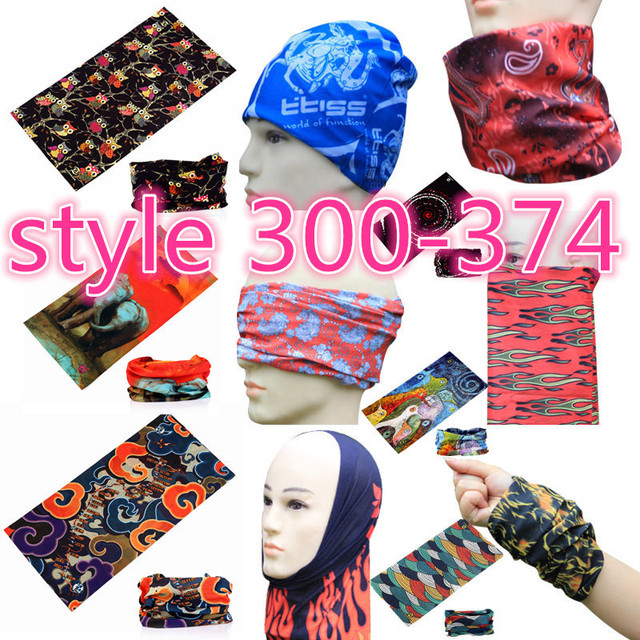 301-400 Neckerchief Hijab Bicycle Variety Turban Magic Headband Veil Head Scarf  Scarves Face Mesh Bandana Neck Tube Face Mask