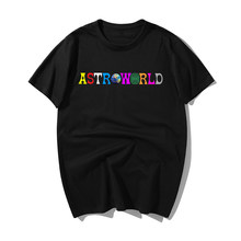 Gran oferta camiseta de hip hop para hombres Travis Scots Astroworld Harajuku camiseta Wish You Were Here camiseta de moda para hombres 100% Camiseta de algodón(China)