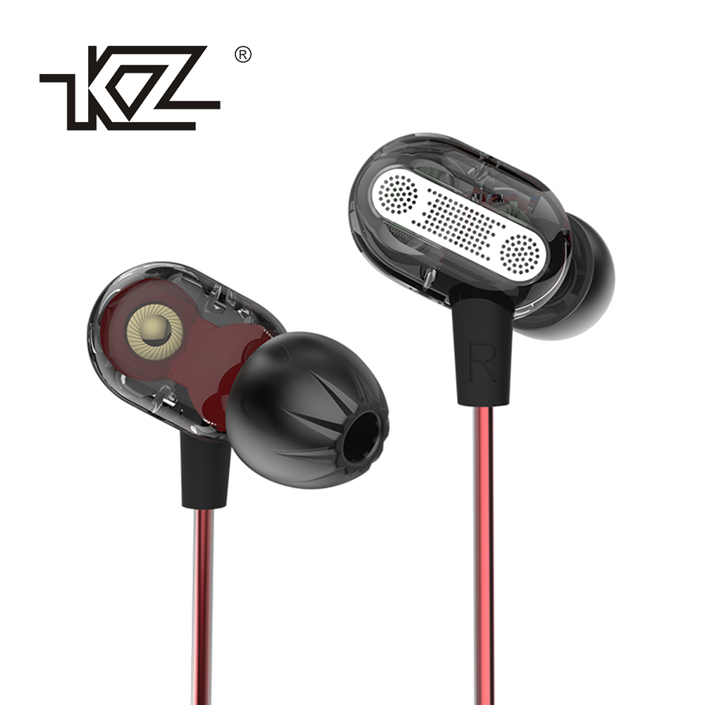 все цены на New Original KZ ZSE Super HIFI Bass In-Ear Music Earphone With Double Dynamic Unit Driver Running Sport Earplug Headset Earbud онлайн