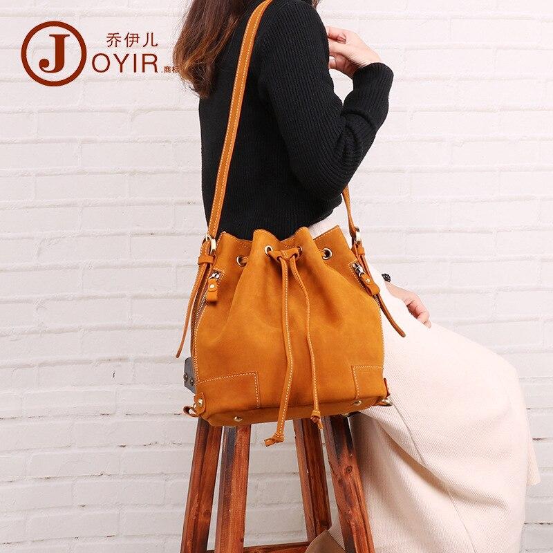 JOYIR femmes sac à dos 2019 mode sac à bandoulière en cuir véritable couleur pure marée restauration anciennes façons un sac à dos à bandoulière