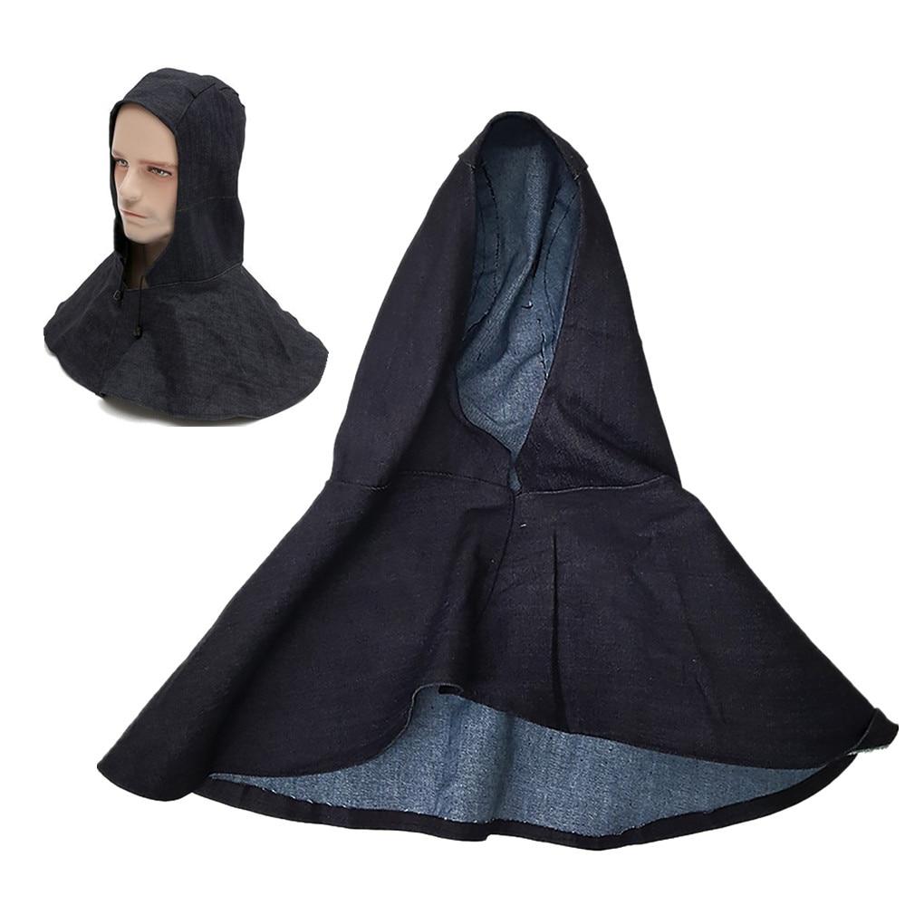 New Denim Fabric Welding Hood Flame Retardant Cap Welding Head Neck Mask Protective Hood Wear Welder Safety Cover