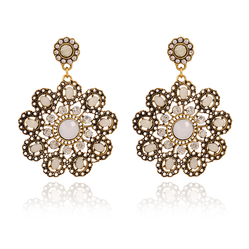 Free Shipping Snowflake Design Hollow Out Dangle Earrings for ...