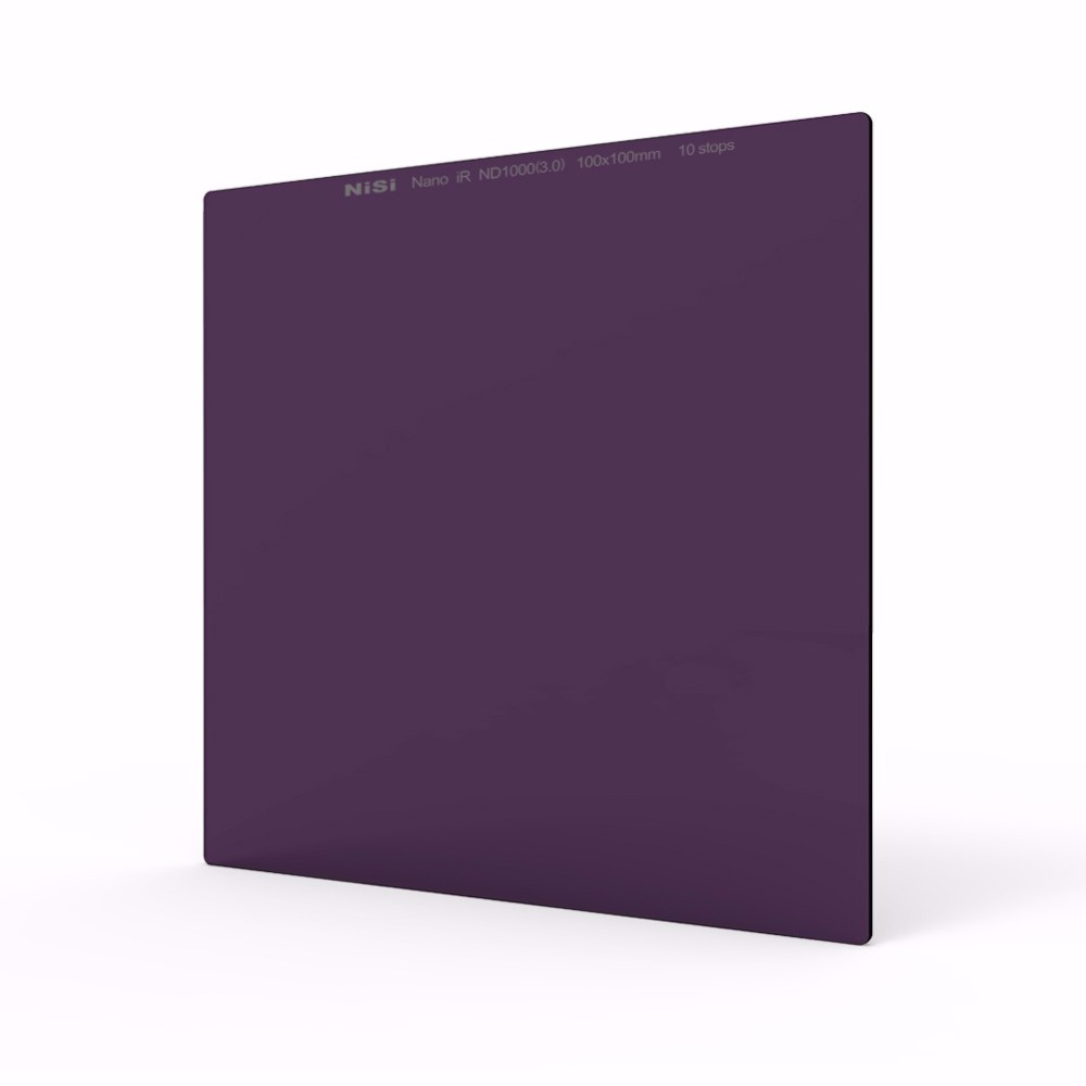 100X100mm Square Neutral Density Filter,IR ND1000(3.0),ND 10 Stops,Optical Glass 52mm,55mm,58mm,62mm,67mm,72mm,77mm,82mm lens
