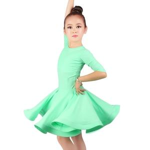 Image 4 - new Latin Dance Dress For Girls Latin Costume Child Kids Dancing Dress Girl Dancewear Kid Competition Latin Dress High Quality