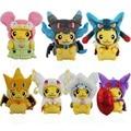 Kawaii Psyduck Pikachu Charizard Peluches 23 cm Pikachu Cosplay Mega Lucario Eevee Peluche Muñecas Juguetes Para Niños de Regalo de Navidad