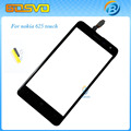 Original replacement For Nokia for Lumia 625 touch digitizer lcd screen glass with flex cable black color 1 piece free shipping