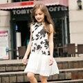 2016 лето элегантный малыш девушки симпатичная девочка фрок дизайн платья для возраста 5 6 7 8 9 10 11 12 13 14 т лет дети-подростки подростков