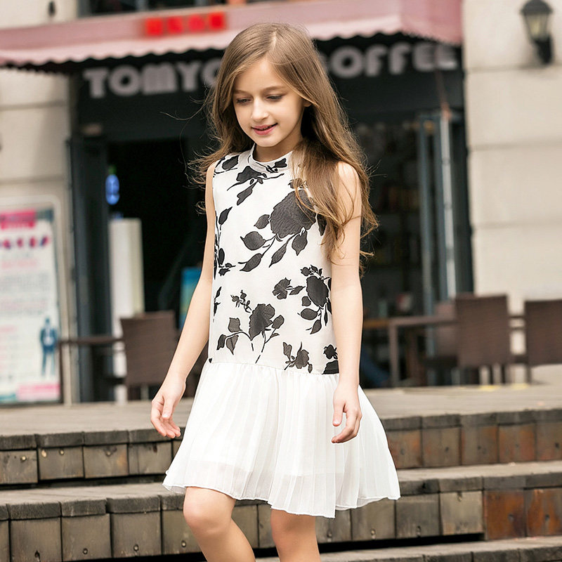 2016 Summer Elegant Kid Girls Cute Baby Girl Frock Design Dresses age 5 6 7 8 9 10 11 12 13 14T Years Old Kids Teenage Teens  -  Shally's Shop store