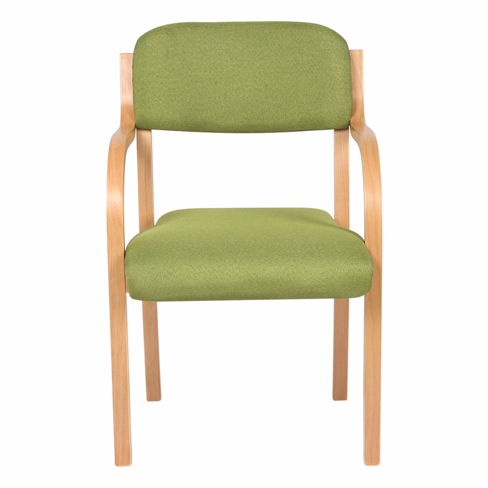 Morden and sipmle chairs wooden home office chairs leisure chairs with freshness green color stadium chairs