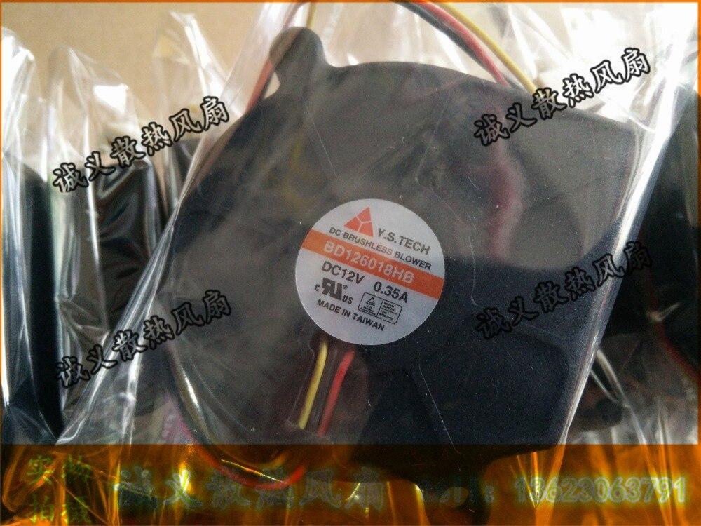 1 PCS Y.S.TECH BD126018HB Fan DC 12V 0.35A 3 Pin  60*60*18mm