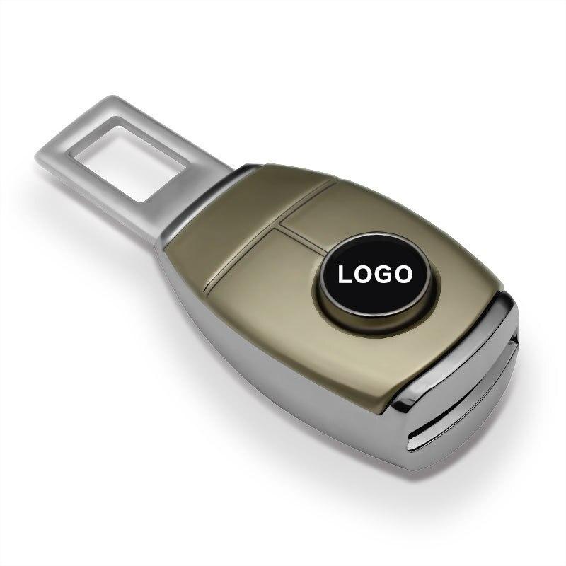 1 Piece Vehicle Seat Belt Extender Car Logo Safety Buckle Clip for Benz Kia VW Porsche Toyota Nissan Cadillac Audi Hyundai bmw