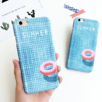 Summer Pooh Skyblue Swimming Ring Phone Case For IPhone 6 6s 6plus 6splus Soft Gel Back