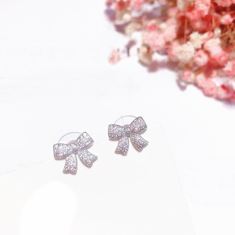 Delicate Bow Stud Earrings For Women Girls 2019 New Korean Small Earrings Jewelry Bijoux Cute Temperament Gifts