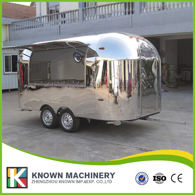 Multifunctional full stainless steel KN-400 Street Mobile food trailer/truck/fast food van with free shipping