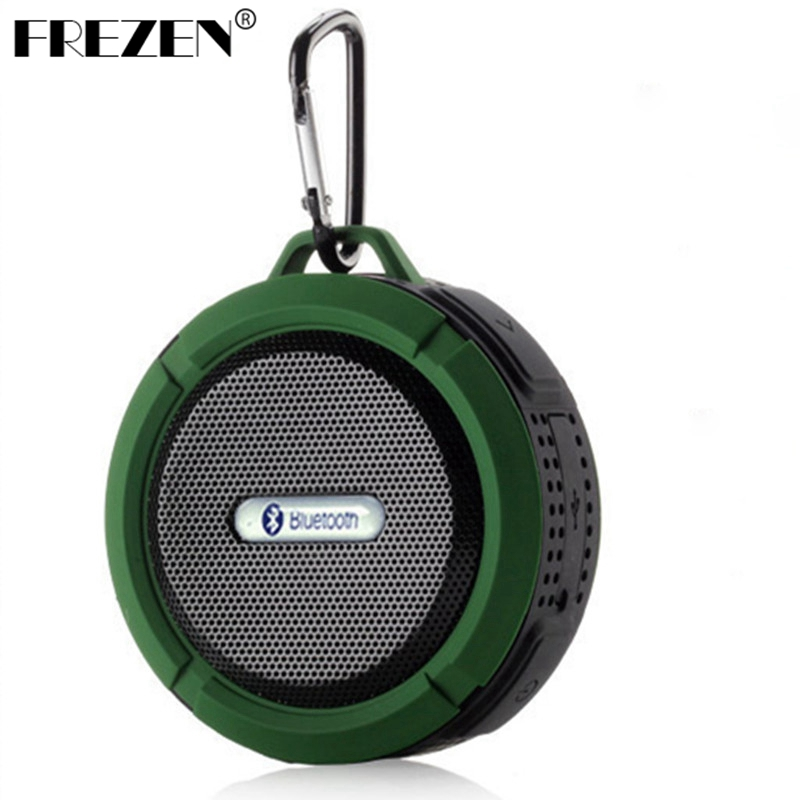 FREZEN C6 Mini Bluetooth Speaker Portable Wireless Waterproof TF Card/FM Speakers Handsfree with Mic/Suction Cup Music For phone