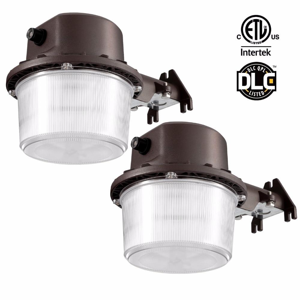 Kohree 2 Packs Led Barn Light Dusk to Dawn Outdoor Yard Light, 35W 5000k Daylight White, DLC & ETL-listed quick install 75w warehouse pendant led lighting with dlc listed
