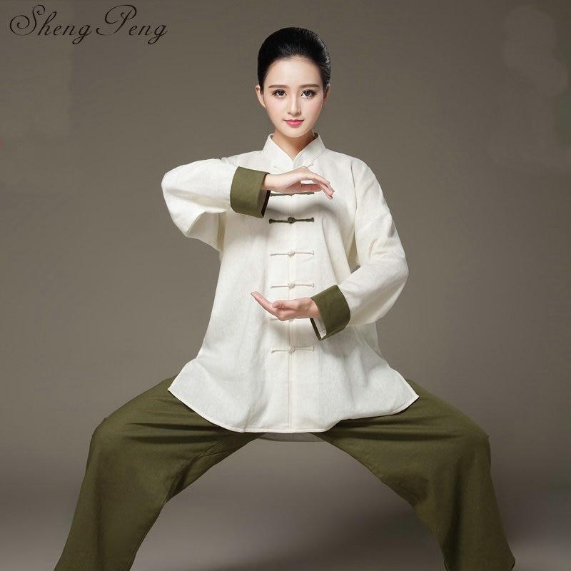 Тай Чи одежда Тай чи равномерное тай-чи одежда женская кунг-фу Одежда Кунг-фу равномерное ушу форма wing chun одежда CC160