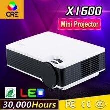 China hizo barato HDMI VGA USB puerto DE conexión de AUDIO de 30,000 horas led vida timemini cre proyector hacer promoción grande x1600