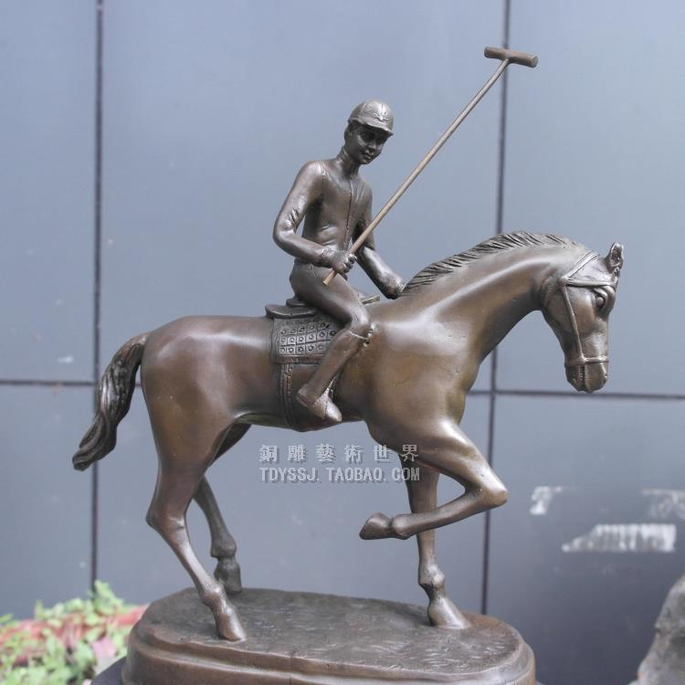 The copper sculpture art of polo sport horse sculpture Home Furnishing jewelry gifts and handicraftsThe copper sculpture art of polo sport horse sculpture Home Furnishing jewelry gifts and handicrafts