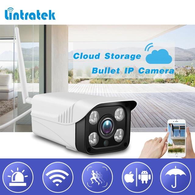 Lintratek наблюдения Wi-Fi безопасности Камера HD 720 P облачного хранения IP пули Камера 4 ИК огни внутренний/Открытый Wi-Fi камера