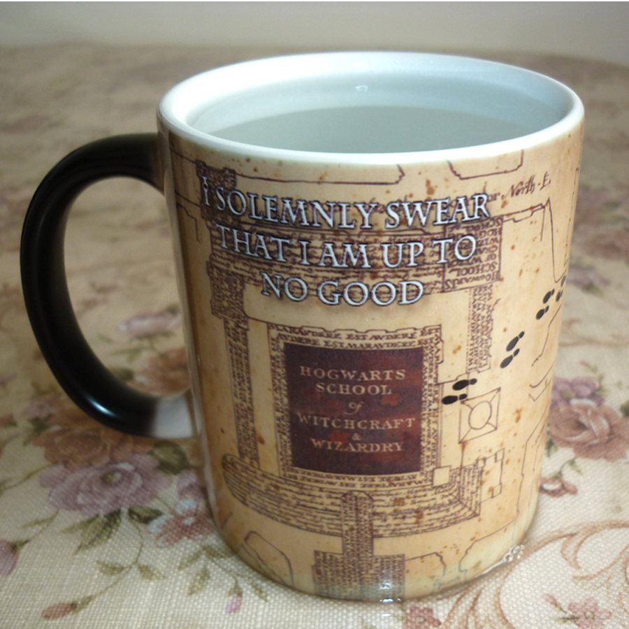 New marauders map mischief mangaed Color Changing Mug Sensitive Ceramic coffee Tea Mugs Cup best gift for friends harry potter mug marauders map