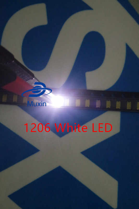 1206 Putih SMD LED 500 Pcs/lot Lampu Dioda 3216 Dioda SMD Super Bright 1206 LED 3.2*1.6 Mm Putih warna Baru
