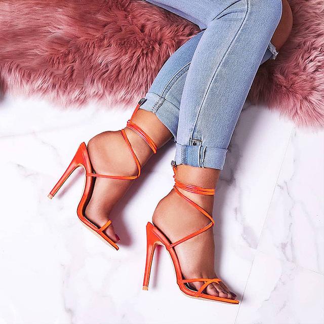 2019 Women's 12cm High Heels Shoes Sandals Women Pumps Big Large Size Ladies Female Fashion Lady Woman Shoes Heels For Women