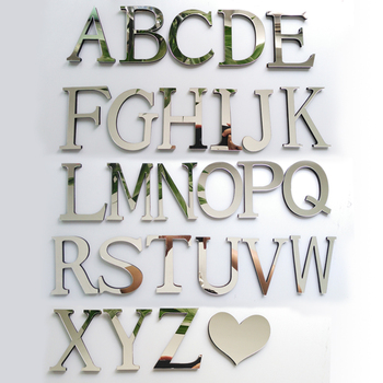 New DIY 3D Acrylic Mirror English letters wall stickers-Free Shipping