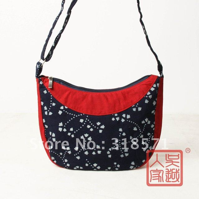 100% Homespun cotton cloth batik shoulder bag hand bag
