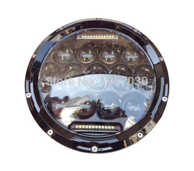 1piece 2017 HOT ATV offroad 4x4 USE Accessory 75w 7inch round car LED Headlight Hi/low beam LED DRL driving ligh free shipping 7inch round headlight motorcycle automotive 4x4 offroad cruiser wind rover led daytime running lights