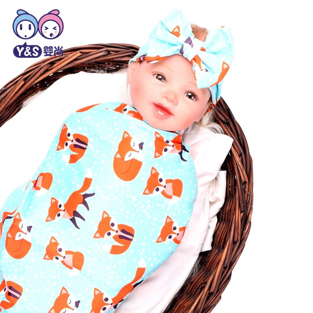 Wisbibi 2pcs / set! Pasgeboren Mode Baby Inbakeren Deken Baby Slapen - Beddegoed - Foto 5