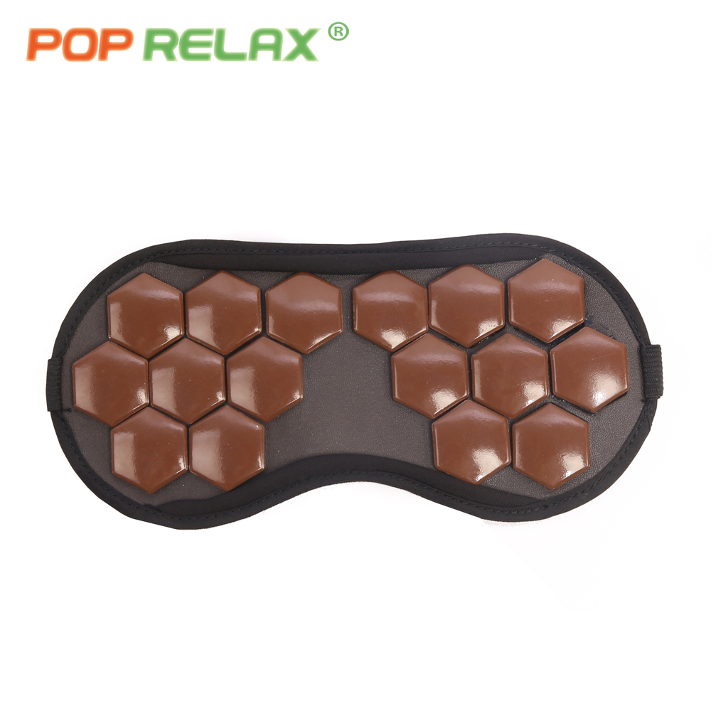 POP RELAX tourmaline sleeping eye facial mask travel physical therapy health care negative anion portable germanium stone patch pop relax tourmaline health products prostate massager for men pain relief 3 balls germanium stone far infrared therapy heater
